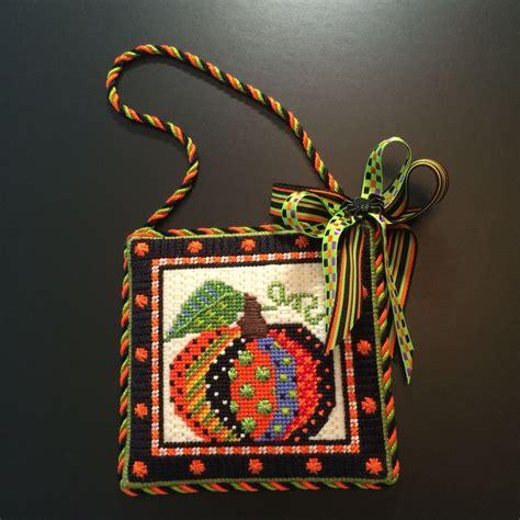 fall door ornament finishing needlepoint designs