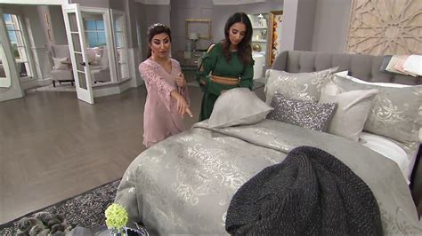 inspire me home decor comforter with 3 pillows qvc youtube