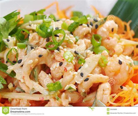 calorie cuisine chinoise cuisine chinoise salad de crevette image stock image