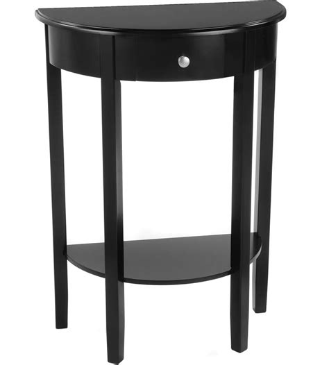 half circle side table half circle console table bay shore in accent tables