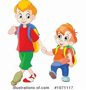 Walking To School Clipart - ClipartXtras