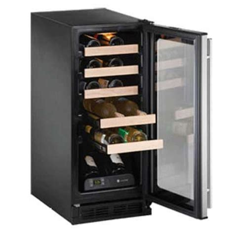 wine kitchen cabinet u line origins captain wine cooler stainless 1299 iwa wine 1115