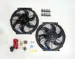 10 U0026quot  Dual Electric Radiator Fan With 210 Degree Temperature