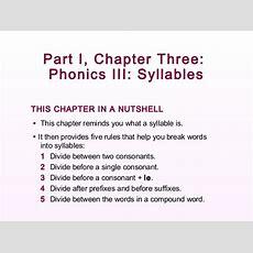 Phonics Syllables