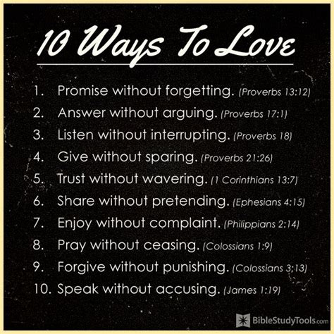 10 Ways To Love  Your Daily Verse