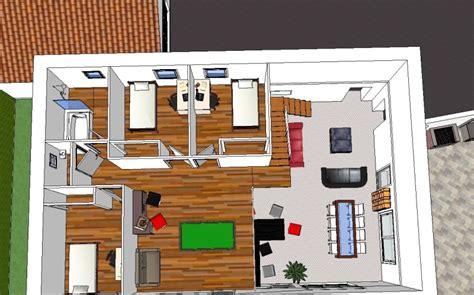 chambre vue de haut maison etage 160m plafond cathedrale sur terrain