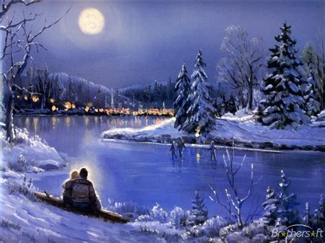 wonderful winter pictures winter moonlight bay