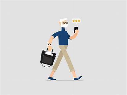 Business Animation Motion Walk Cycle Character Funny