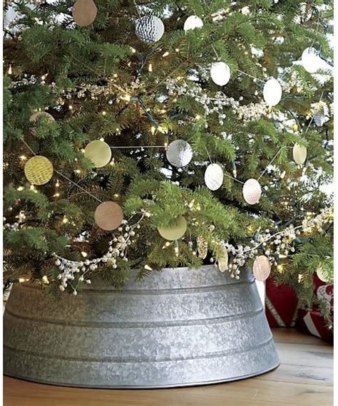 Wicker Wall Cabinet by Galvanized Tree Collar Rustic Christmas Tree Skirts