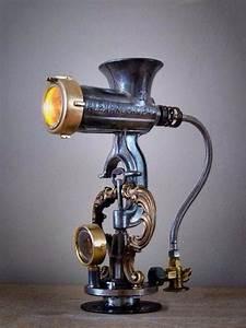 Industrial Design Lampe : lamp steampunk old meat grinder industrial design pinterest lampes luminaires et ~ Sanjose-hotels-ca.com Haus und Dekorationen