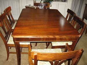 We Have A Lovely Mahogany Wood Dining Room Table with