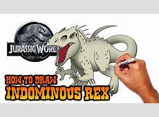 How to Draw Indominous Rex Jurassic World YouTube