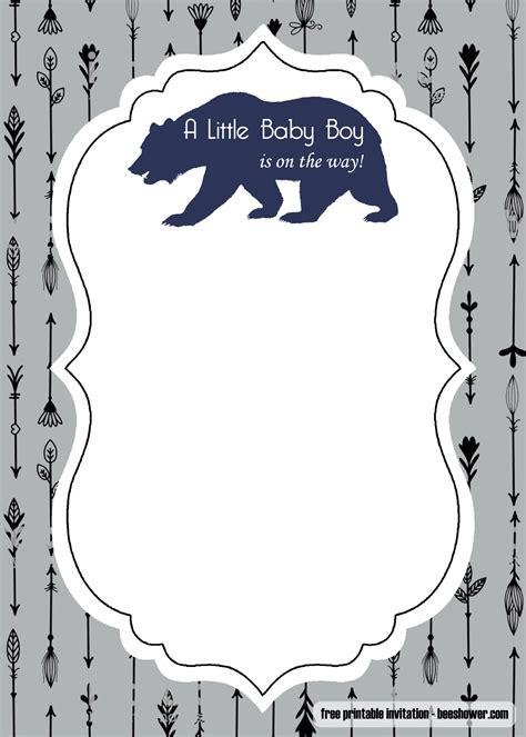 adventure awaits baby shower invitation template