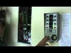 External Generator Panel Interface To Circuit Breaker Box
