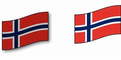 Flag Norway Norwegian Clipart Scandinavia Flagge Country