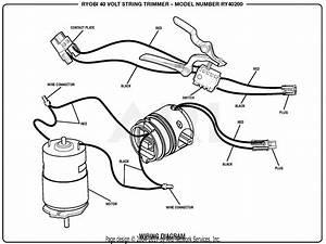 Homelite Ry40200 40 Volt String Trimmer Parts Diagram For Wiring Diagram