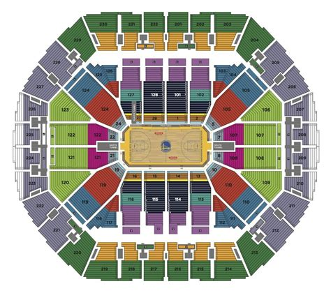 seating charts oracle arena  ringcentral coliseum