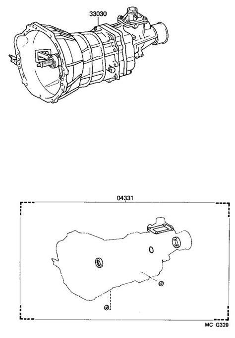 Toyota 4Runner Gasket kit, manual transmission overhaul