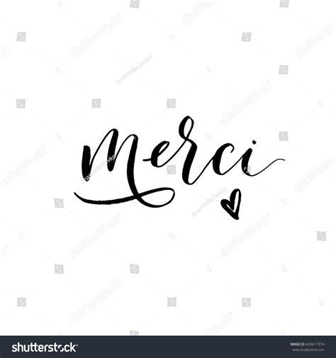french language merci card stock vector