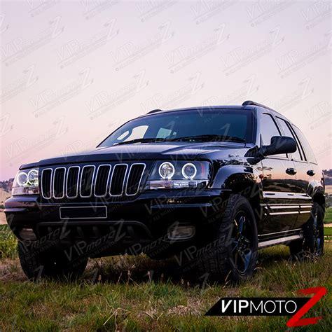 1999 2004 jeep grand wj wg black led halo