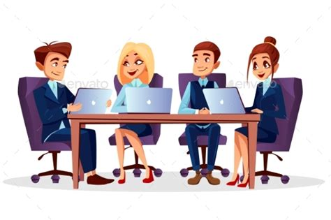 14434 business meeting clipart vector business meeting by vectorpouch graphicriver