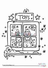 Colouring Toy Christmas Pages Coloring Toys Log Activity Village Explore Template sketch template