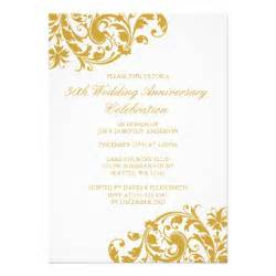 golden wedding anniversary invitations 50th wedding anniversary gold swirl flourish 5x7 paper invitation card zazzle