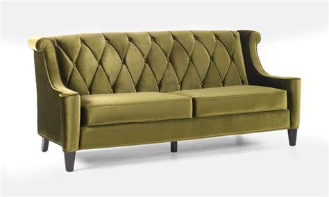 mid century velvet sofa barrister retro sofa in mid century modern green velvet