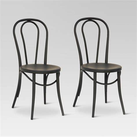 emery metal bistro chair set of 2 threshold