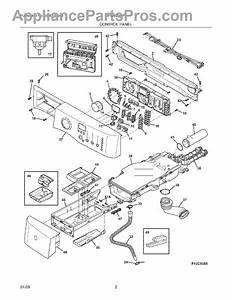 Parts For Electrolux Eiflw55irr0  Control Panel Parts