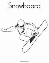 Coloring Snowboard Worksheet Shaun Snowboarder Print Outline Noodle Rocks Twisty Twistynoodle Built California Usa Ll Favorites Login sketch template