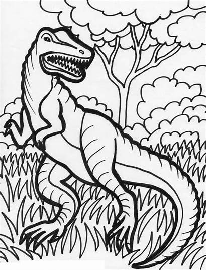 Coloring Pages Dinosaur Dinosaurs Printable