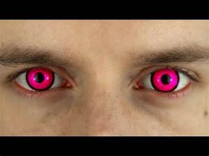 Bright Pink Colored Contact Lenses Terror Eyes