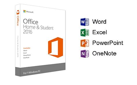 microsoft office 2016 home and student on software pc