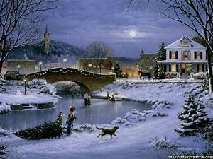 winter snow night christmas 26817 hd wallpapers background ...