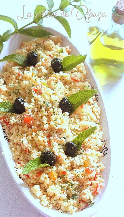taboule oriental semoule menthe  raisins recettes