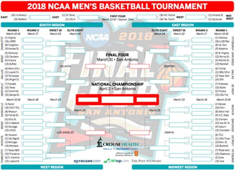 march madness  whats   printable ncaa