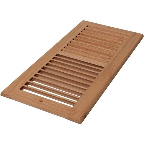 Decorative Air Return Grates by Decor Grates 6 In X 10 In Unfinished Oak Louvered Cold