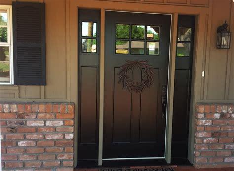 Fiberglass Front Doors by Replacing Mahogany Door With Fiberglass Door With Two