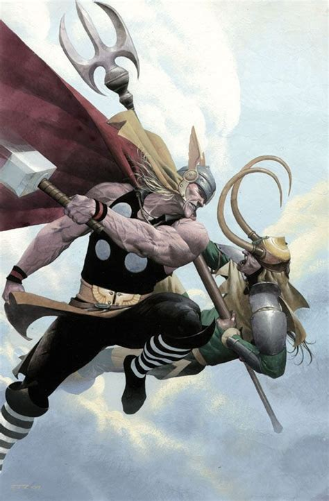 Loki Thor By Esad Ribic Drawpaintform Pinterest Loki