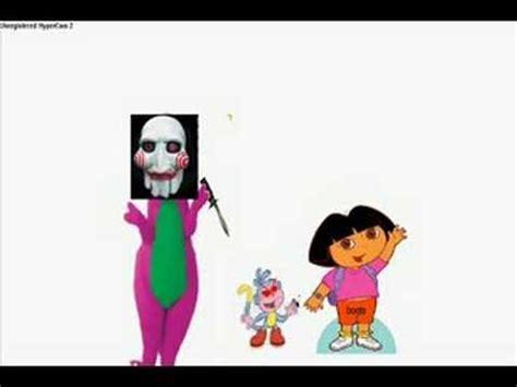 barney kills dora youtube