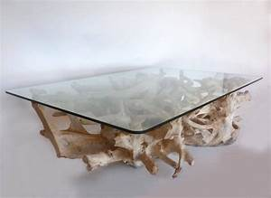 sculptural teak root coffee table with glass top for sale With teak root coffee table glass top