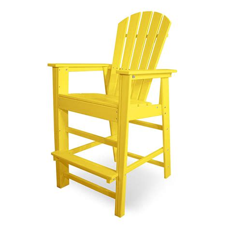 polywood south bar height outdoor chairs