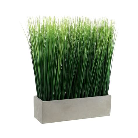 artificial grass  ceramic pot large threshold green