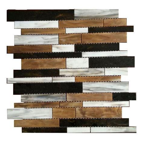 home depot glass tile splashback tile matchstix mockingbird 12 in x 12 in x 3