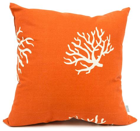 outdoor burnt orange coral large pillow modern outdoor