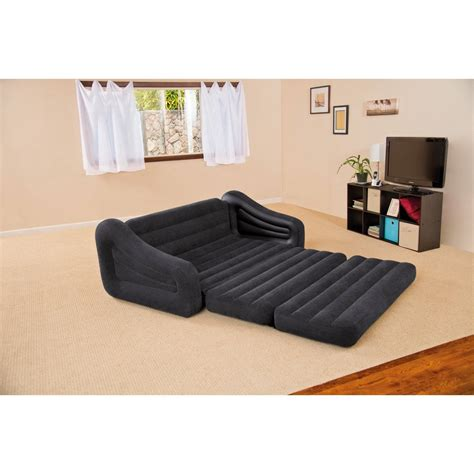 intex inflatable pull out sofa bed queen size double