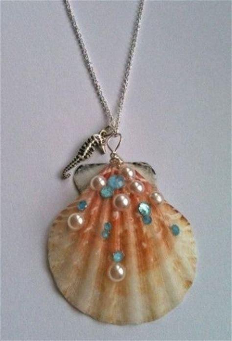 seashell necklace seashells  necklaces  pinterest