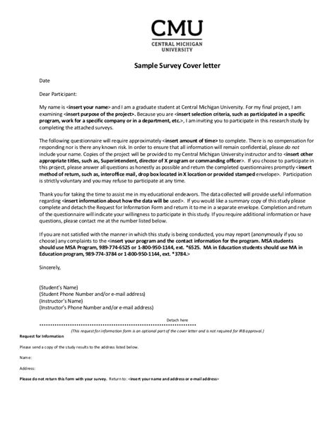 Sample survey-cover-letter