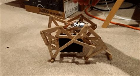 strandbeest  robot   popsicle sticks robotic